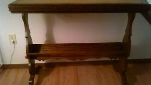Tiger oak hall table