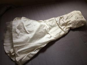 Wedding dress pure silk