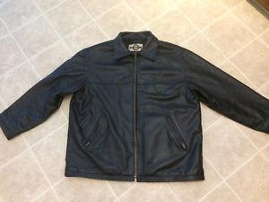 X-Large Real Black Leather Jacket Forsale
