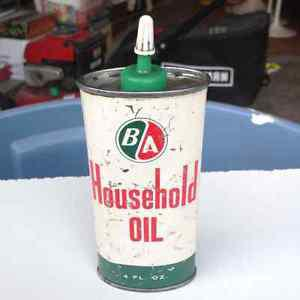 's Can of BA British America Household Oil