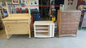 1 Chest of Drawers; 1 dresser & 1 TV stand/entertainment