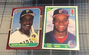 2 Baseball Rookie Cards - Barry Bonds & Frank Thomas