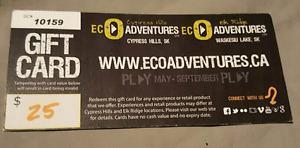 $25 Gift card for EcoAdventures (ziplining)