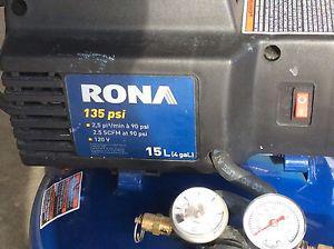 4 gallon compressor and brad nailer