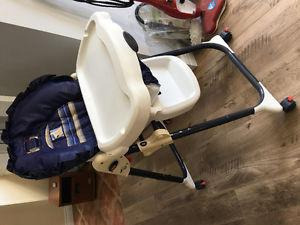 Baby fold up travel bed, stroller, high chair etc...