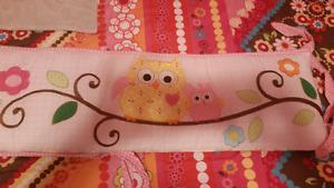 Baby girl Owl bedding set.