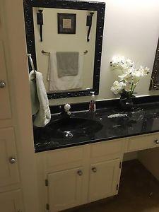 Bathroom sink counter top