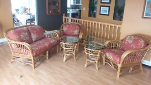 Boca Rattan Furniture set for sale
