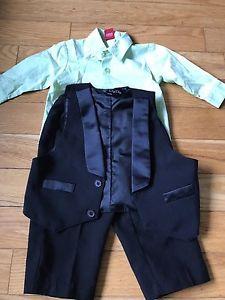 Dress shirt, pants and vest m