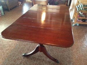"Duncan Phyfe ""Style"" Dining Table and Chairs"