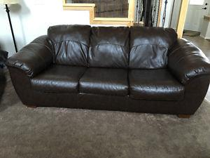 Faux Leather Sofa and love seat