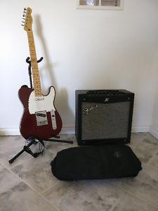 Fender Telecaster + Fender Mustang II Amp