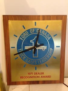 Ford of Canada  Dealer Recognition Clock