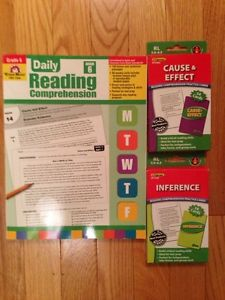 Gr 6 Reading Comprehension Workbook and 2 boxes of flash