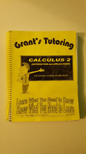 Grant's Tutoring Calculus 2, $45