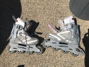 Grey and Red Childrens Roller Blades