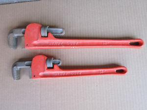 INCH PIPE WRENCHES