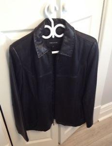 Jones New York Black Leather Jacket