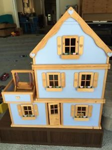 Locally handmade wooden dollhouse, excellent condition