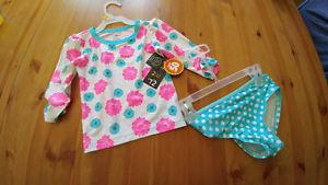 New with tags, girls bathing suit size 4T