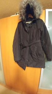Parka North Face winter jacket women'sBlack color