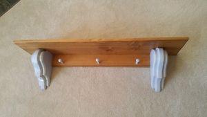 Pine shelf/coatrack