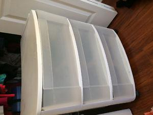 Plastic 3 drawer organizer