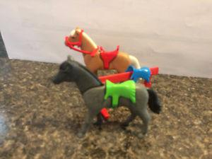 Playmobil horses and saddle