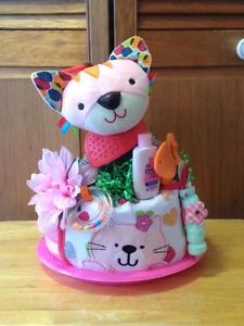 Pretty Kitty 1 Tier Diaper Cake