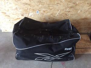 Senior ball hockey goalie gear.
