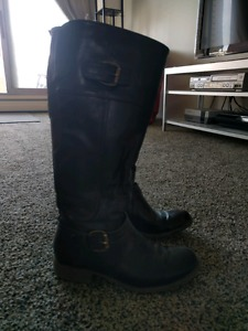 Size 7.5 Wide Calf Brown Boots