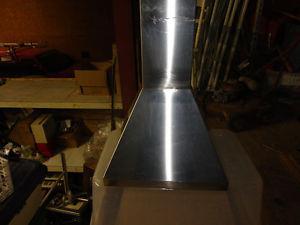 Stainless steel oven hood