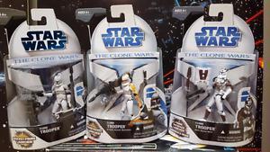 Star Wars Clone Wars Cartoon figure lot (3)