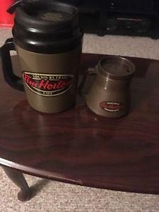 Tim Hortons Giant Mug and Small Coffee Pot