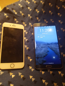 Trade iphone 6s,samsung note 3 for note 5