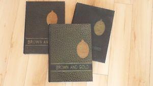 "University of Manitoba ""Brown & Gold"" Year Books ,"