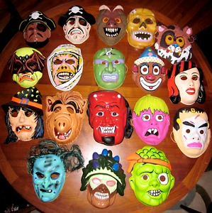 Wanted: **LOOKING FOR** Old Halloween Masks, decorations,