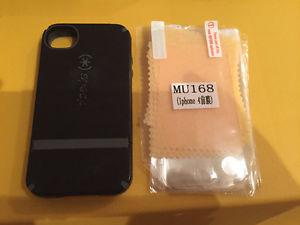 iPhone 4/4S Speck case and screen protectors