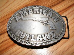 American Outlaws Pewter Belt Buckle -