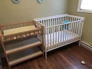 Baby crib and change table for sale