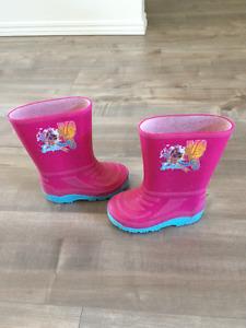 Barbie rubber boots size 8