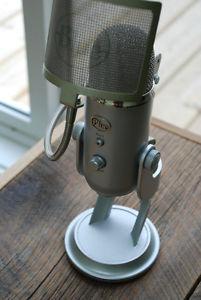 Blue Yeti USB mic and pop filter