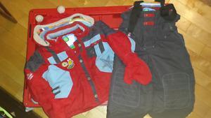 Boys two piece snow suit sz 2t