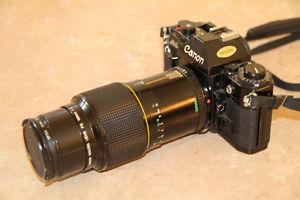 Canon A1 film camera with 100 mm Canon Macro lens