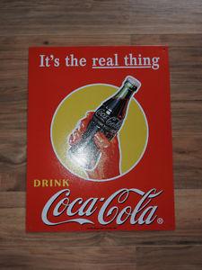Coca Cola metal wall sign