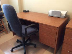 Desk and matching file cabinet