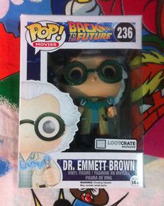 Dr Emmett Doc Brown Loot Crate Exclusive  Funko Pop! 236