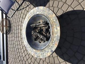 Fire Pit With Firewood
