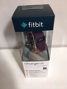 Fitbit Charge HR - Plum Small