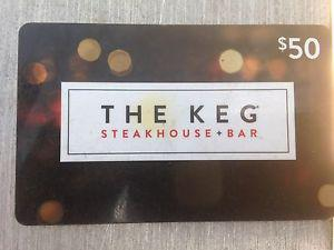 GIFT CARD. THE KEG.
